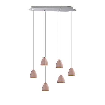 Tetrra 6 Mini Pendant Lighting Concrete