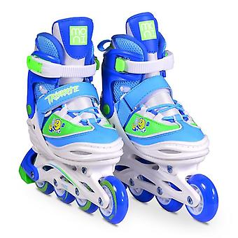 Byox Inliner Kids 3 in 1 Triskate Blue Size M 34-37 Adjustable, ABEC-5 Bearing
