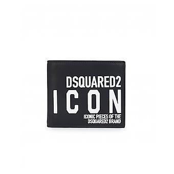 Dsquared2 tillbehör ny ikon läder plånbok