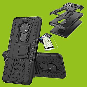 Nokia 6,2/7,2 hybridi kotelo 2Piece musta + karkaistu lasi kotelo kannen kansi