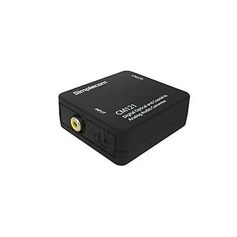 Simplecom Digital Optical Toslink and Coaxial to RCA Audio Converter
