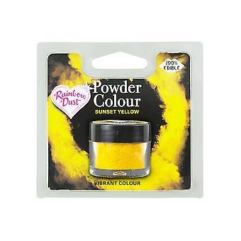 Poeira do arco-íris comestível Matt Powder Dust Colour 4g Sunset Yellow