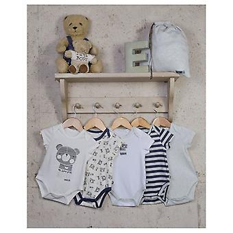 The Essential One Baby Boys Beary Much Bodysuits - 5 Pack