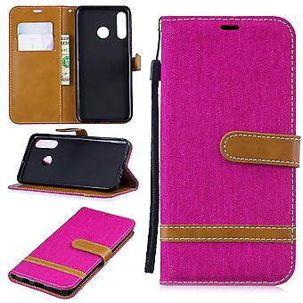 Huawei P30 lite New Edition Handy Hülle Schutz-Tasche Case Cover Kartenfach Etui Wallet Pink