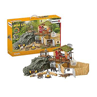 Schleich Wild Life Croco Jungle Research Station Playset