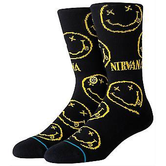 Stance Nirvana Face Socks - Black/Yellow