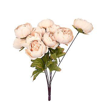 Kunstmatige bloemen boeket pioenrozen antiek wit
