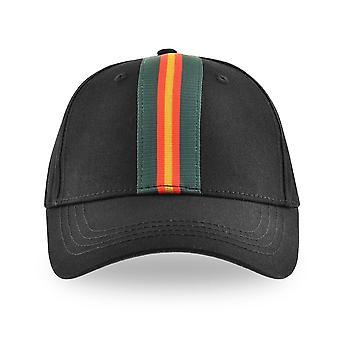 Luke | Duck Zm491201 Vintage Stripe Trucker Cap - Svart