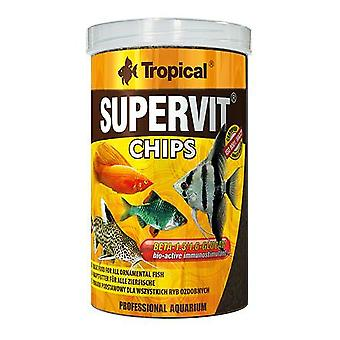 Tropical 60813 Supervit Chips 100 ml (Fish , Food , Warm Water)