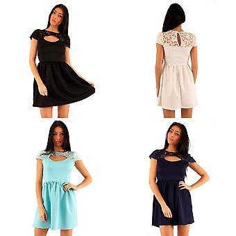 Lili London Womens/Ladies Alissa Peekaboo Lace Front Dress