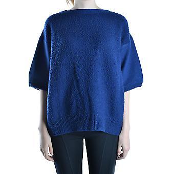 I-knit Ezbc412002 Women's Blue Wool Sweater