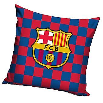 FC Barcelona Crest Check Cushion