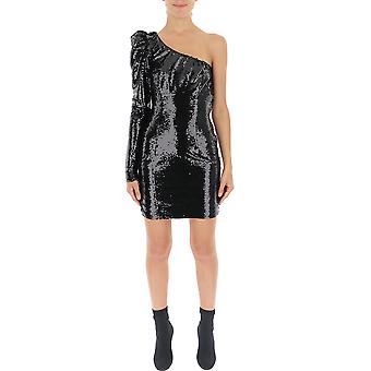 Amen Amw19427009 Women-apos;s Black Sequins Dress