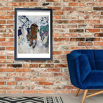 Edvard Munch - galopperende hest plakat ut Giclee