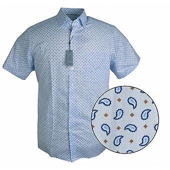 OLYMP Olymp Casual Paisley Short Sleeve Shirt
