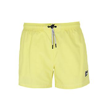BOSS Tuna Small Tab Yellow Swim Shorts
