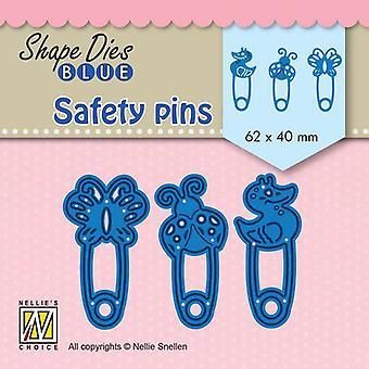 Nellie's Scelta Forma Die Safety pinS SDB079 62x40mm