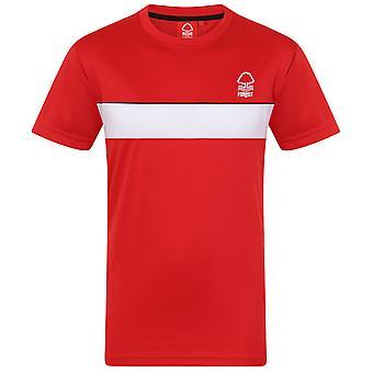 Nottingham Forest FC Official Football Gift Mens Poly Training Kit T-Shirt