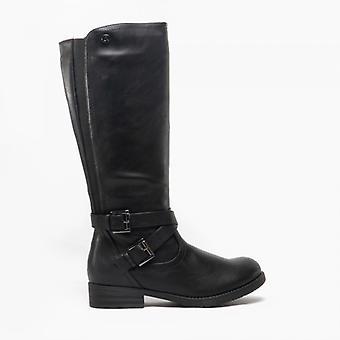 Cipriata Adama Ladies Elasticated Zip High Leg Boots Black