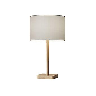 Cozy Cabin Natural Wood Table Lamp