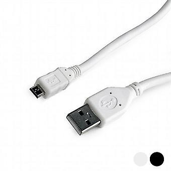 USB 2.0 A to Micro USB B Cable GEMBIRD CCP-mUSB2-AMBM/Black/1.8 m
