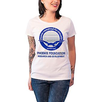 MacGyver T Shirt Phoenix Foundation new Official Womens Skinny Fit White