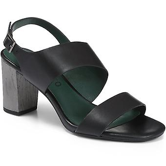 Staccato Womens Block Heel Leather Sandal