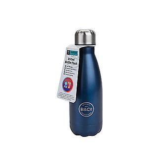 B&Co Bottle Flask Metallic Blue