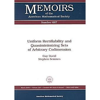 Uniform Rectifiability and Quasiminimizing Sets of Arbitrary Codimens