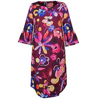 backstage fet floral print lin kjole