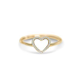 Ring Diamonds Heart 18K Gold and Diamonds
