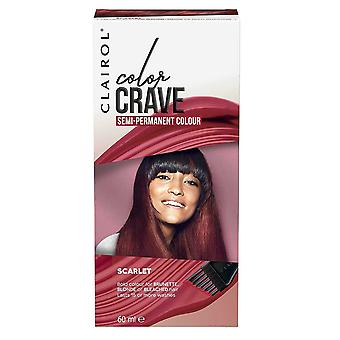 Clairol Color Crave Semi Permanent Hair Colour 15+ Washes 60ml Scarlet