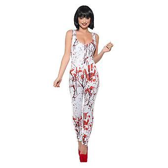 Womens Blood Splatter Halloween Fancy Kleid Kostüm