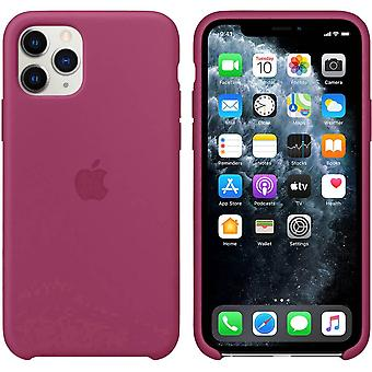 Apple Silicone Case for iPhone 11 Pro Pomegranate Pink Pocket Protective Phone Case Case Case