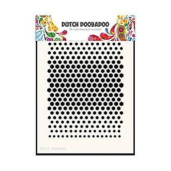 Dutch Doobadoo Softboard Art Stencil Mask A5 Size - Honeycomb