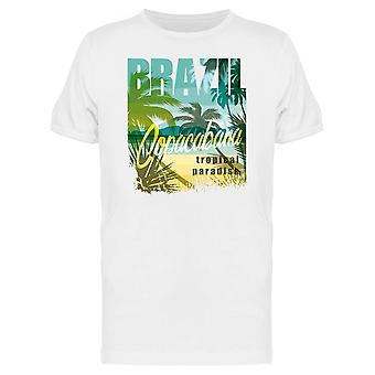 Brasilien Tropenparadies Design T-Shirt Herren-Bild von Shutterstock