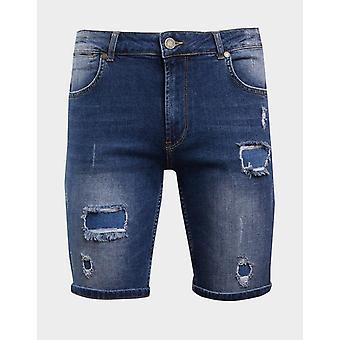 New Supply & Demand Men's Bark Denim Shorts Blue