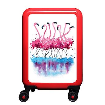 myTrolley Flamingo Aquarel S, 4 rollen, 55 cm, 32 L, Rood