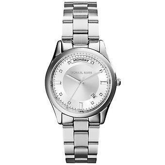 Michael Kors MK6067 Colette Silver Dial Stainless Steel Ladies Watch