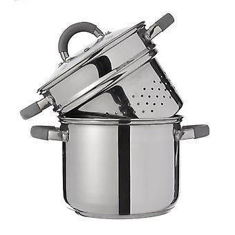 Pentola Cook Colore Grigio in Acciaio inossidabile, L22,5xP30xA26,5 cm