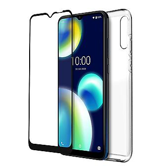 Protection Wiko View 4 Lite cover/Screen protector Tempered Glass Original Clear