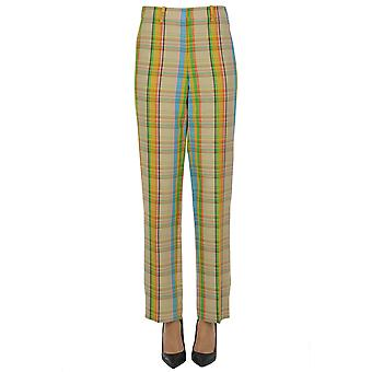 Loewe Ezgl248020 Women's Multicolor Viscose Pants