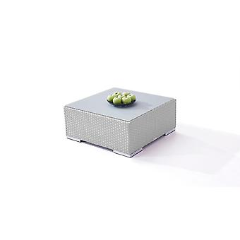Polyrattan Cube table 75 cm - satiné gris