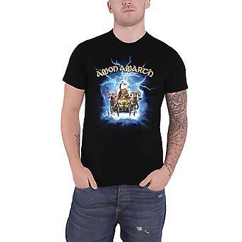 アモンアマースTシャツクラックスカイバンドロゴ新公式メンズブラック