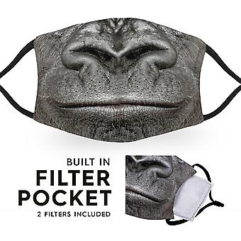 Gorilla Mouth - Reusable Adult Cloth Face Masks - 2 Filters Included