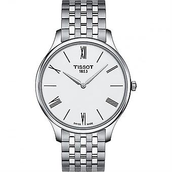 Tissot T063.409.11.018.00 Tradition 5.5 White Dial Men's Watch