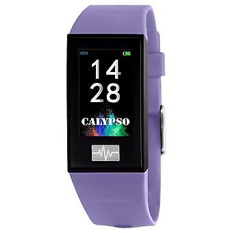 Calypso Unisex ? Smartime ? Correa de silicona púrpura + correa libre K8500/2 Reloj