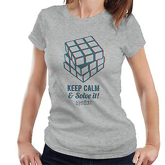 Rubik's Keep Calm And Solve It Women's T-Shirt