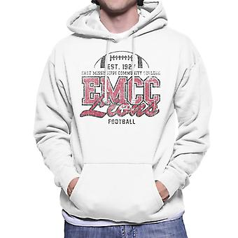 East Mississippi Community College Dark Distressed Lions Men's Hooded Sweatshirt