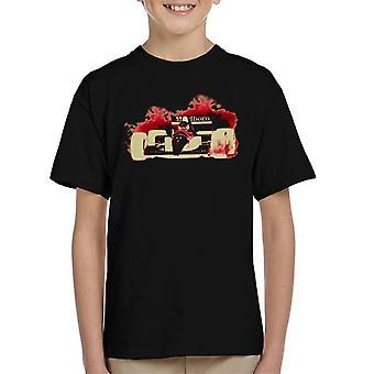 Motorsport Images Ayrton Senna McLaren MP46 Portuguese GP Negative Kid's T-Shirt